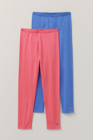 Crew Clothing Blue Plain Leggings Two Pack