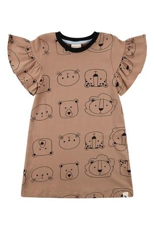 Turtledove London Organic Rust Cub Face Dress
