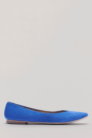 Crew Clothing Blue Chloe Suede Pumps