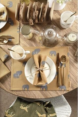Set of 4 Sophie Allport Elephant Napkins
