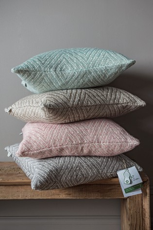 Gallery Direct Natural Recycled Chevron Cushion