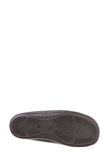 Cotswold Brown Stanley Slip-On Slippers