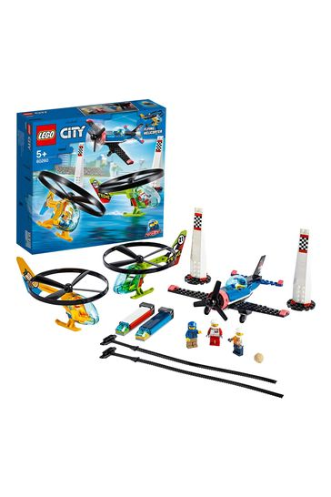 LEGO 60260 City Airport Air Race Toy Plane & Helicopters Set