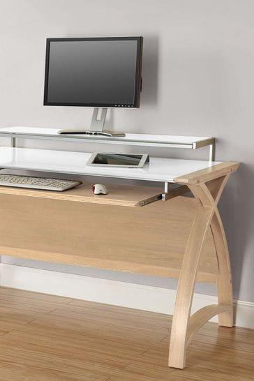 Helsinki 1300 Oak Desk by Jual