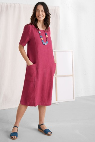 Seasalt Red Painting Class Dress