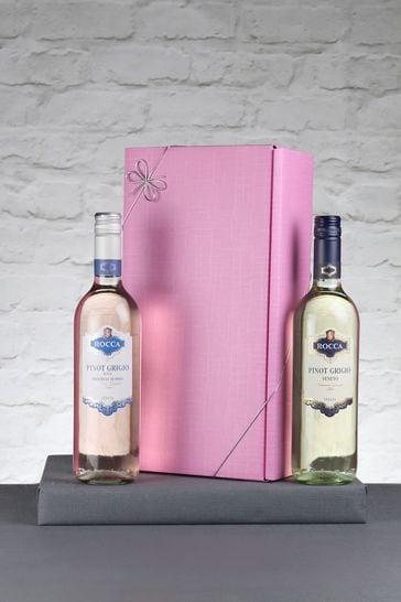 Set of 2 Italian Pinot Grigio Wine Gift Set by Le Bon Vin