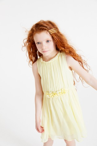 Lemon Corsage Dress (3-16yrs)