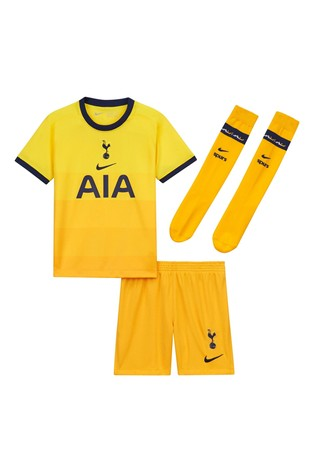 Nike Yellow Tottenham Hotspur Third 20/21 Kids Mini Kit