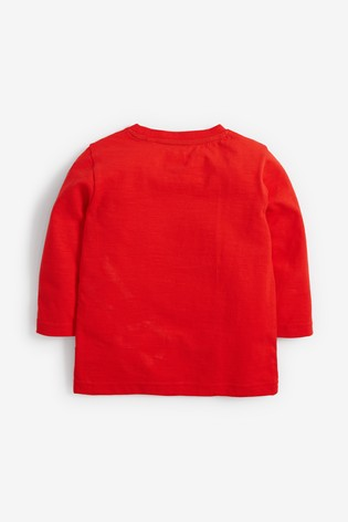 Red Long Sleeve Jersey Spider-Man™ T-Shirt (3mths-8yrs)