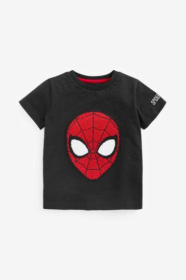 Black Spider-Man Superhero License T-Shirt (3mths-8yrs)