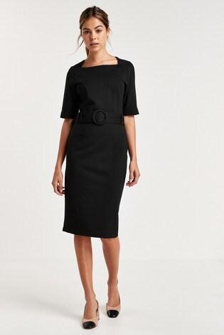 Black Bodycon Ponte Dress