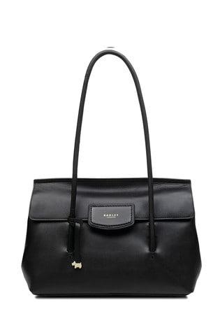 Radley London Black Indigo Place Large Flapover Shoulder Bag