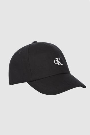 Calvin Klein Black Monogram Baseball Cap