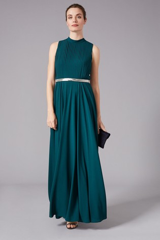 Phase Eight Green Nicola Embroidered Maxi Dress