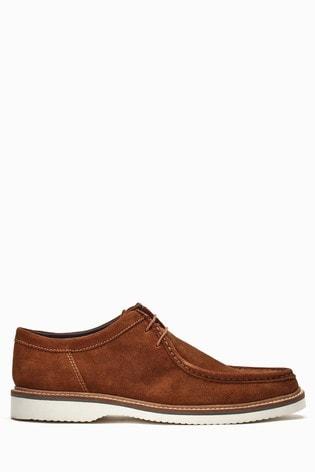Base London Cognac Barnum Wallabee Shoe