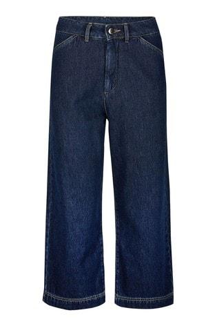 Oliver Bonas Blue Denim Culotte Jeans