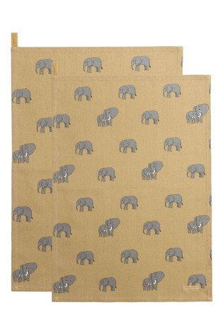 Sophie Allport Elephant Tea Towel