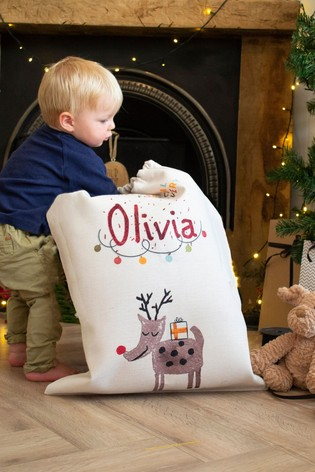 Personalised Childrens Reindeer Sack by Solesmith