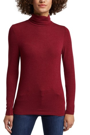 Esprit Red EcoVero™ Turtle Neck Top