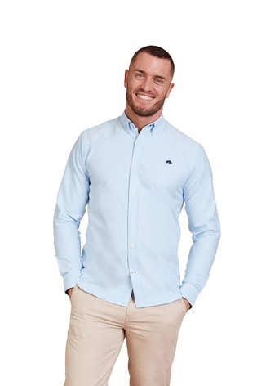 Raging Bull Sky Blue Signature Oxford Shirt