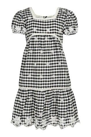 River Island Black Little Gingham Dress