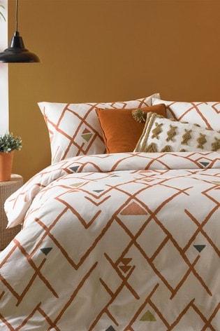 Furn Inka Geo Duvet Cover and Pillowcase Set
