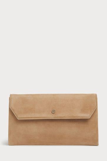 L.K.Bennett Brown Dora Envelope Clutch