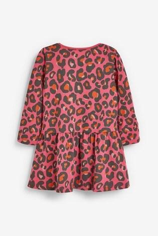 Red Animal Jersey Dress (3mths-7yrs)