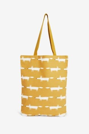 Ochre Scion At Next Fox Cotton Reusable Bag For Life