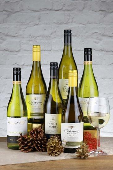 Set of 6 World Chardonnay White Wine Selection by Le Bon Vin