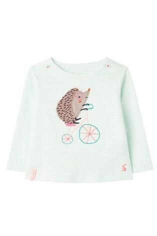 Joules Green Hedgehog Artwork Top