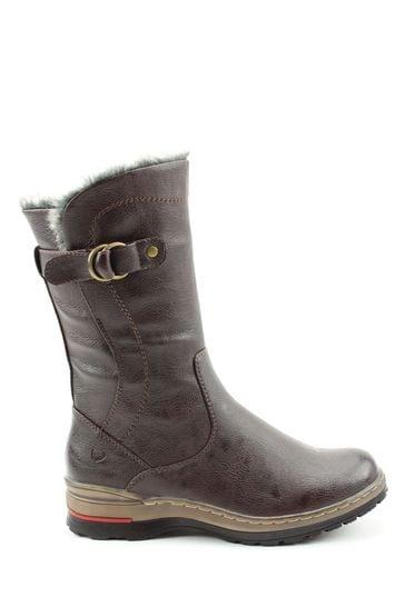 Heavenly Feet Bramble Tan Casual Mid Calf Boots