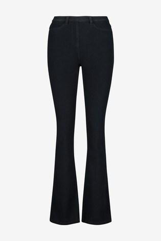 Rinse Jersey Denim Boot Cut Jeans