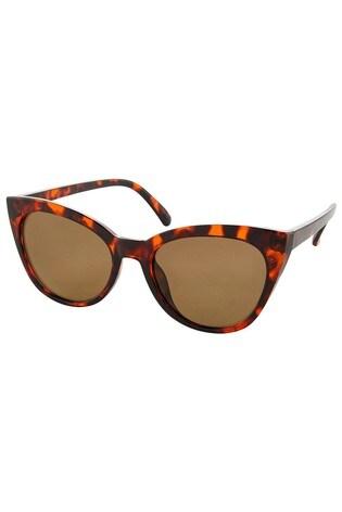 Accessorize Brown Ava Classic Cat-Eye Sunglasses