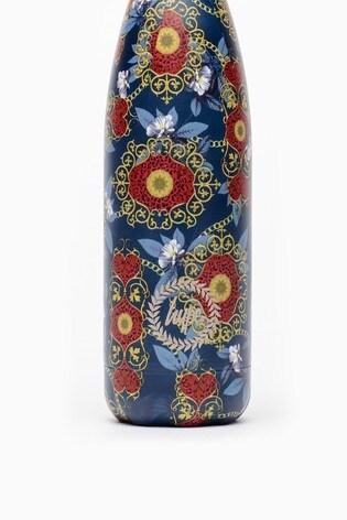 Hype. Navy Baroque Metal Reusable Bottle