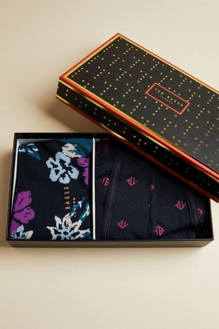 Ted Baker Printed Trunks And Sock Set