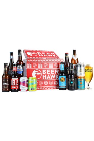 Beer Hawk Festive Lager Crate