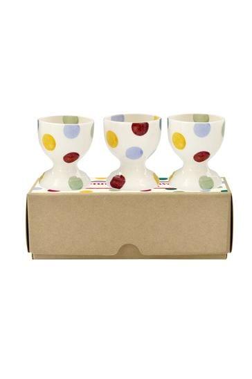 Set of 3 Emma Bridgewater Polka Dot Egg Cups