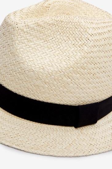 Natural Black Band Panama Hat