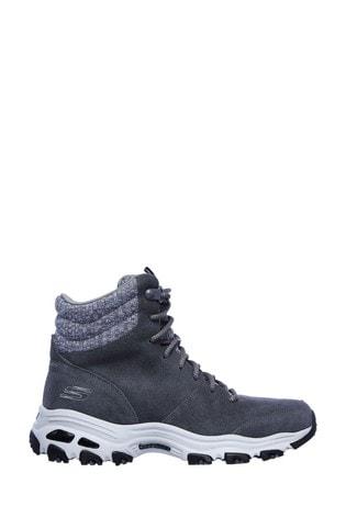 Skechers® Grey D'Lites - Chill Flurry Boots