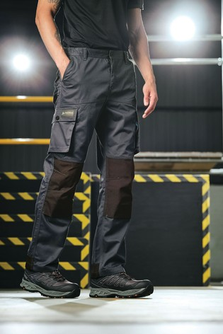 Regatta Black Heroic Workwear Cargo Trousers