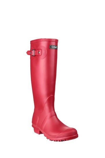 Cotswold Red Sandringham Wellington Boots