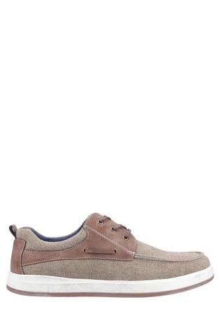 Hush Puppies Brown Aiden Lace-Up Boat Shoes