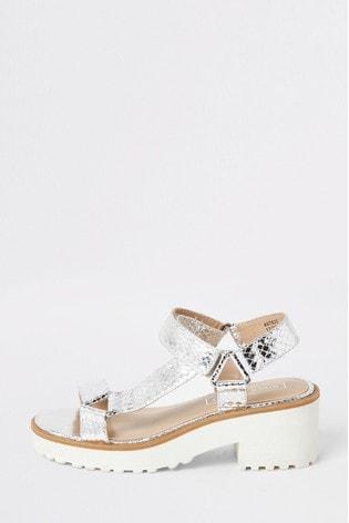 River Island Silver Clumpy Sandals
