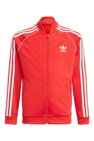 adidas Originals Red Superstar Track Top