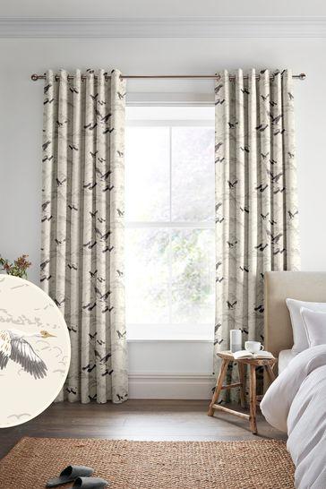 Laura Ashley Silver Animalia Made to Measure Curtains