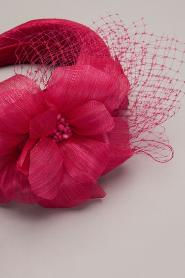 Phase Eight Red Lottie Flower Headband