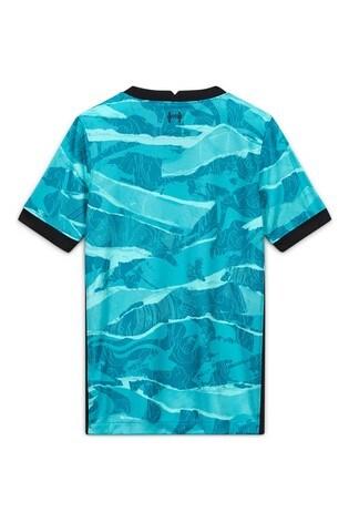 Nike Turquoise Liverpool Away 20/21 Kids Football Shirt