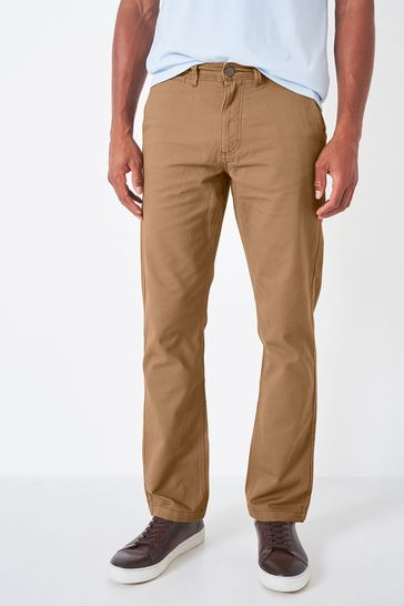 Crew Clothing Company Tan Vintage Tailored Chinos