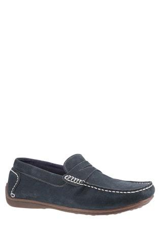 Hush Puppies Blue Roscoe Slip-On Shoes